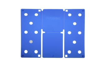 Flip FOLD Standard Garment Folding Tool (Pack of 2) (Blue) (One Size)