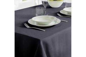 Home & Living Linen Look Tablecloth (Black) - UTRW7185