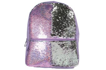 Christmas Shop Girls Reversible Sequin Backpack (Silver/Pink) (One Size)