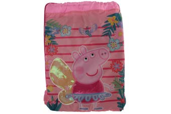 Peppa Pig Childrens/Kids Trainer Drawstring Bag (Pink) (One Size)
