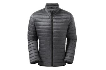 2786 Mens Melange Padded Jacket (Charcoal Melange) (XXL)