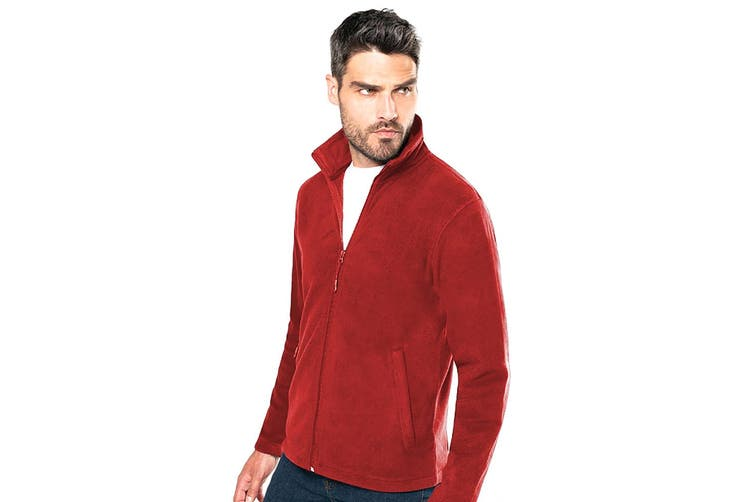 Kariban Mens Falco Full Zip Anti Pill Fleece Jacket (Red) (M)