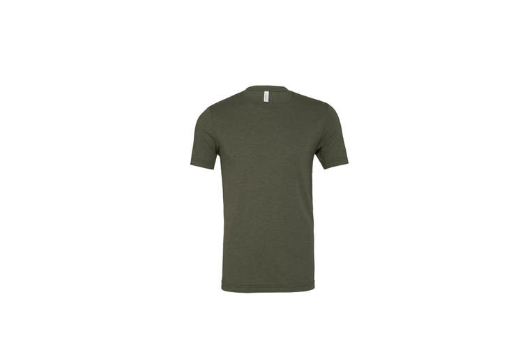 Bella Canvas Unisex Adults Triblend Crew Neck T Shirt (Military Green Triblend) (M)