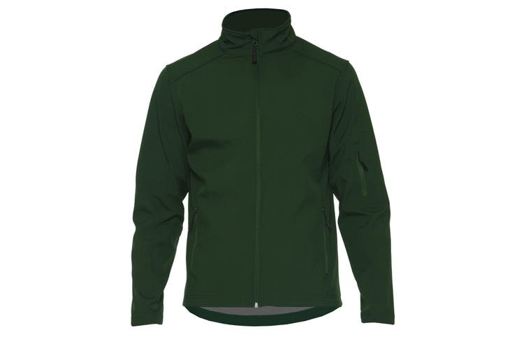 Gildan Adults Unisex Hammer Softshell Jacket (Forest Green) (3XL)