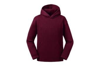 Russell Childrens/Kids Authentic Hooded Sweatshirt (Burgundy) (9-10 Years)