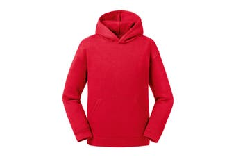 Russell Childrens/Kids Authentic Hooded Sweatshirt (Classic Red) (11-12 Years)