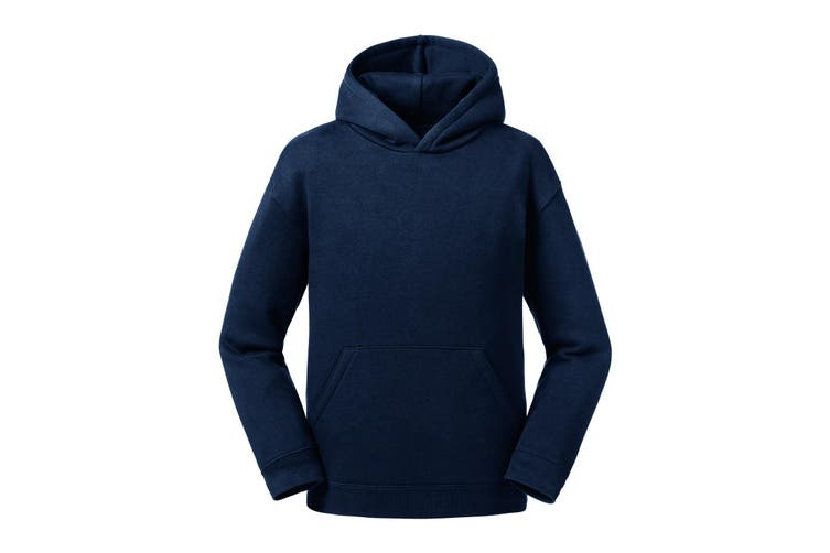 Russell Childrens/Kids Authentic Hooded Sweatshirt (French Navy) (13-14 Years)