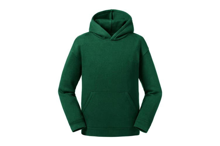 Russell Childrens/Kids Authentic Hooded Sweatshirt (Bottle Green) (5-6 Years)