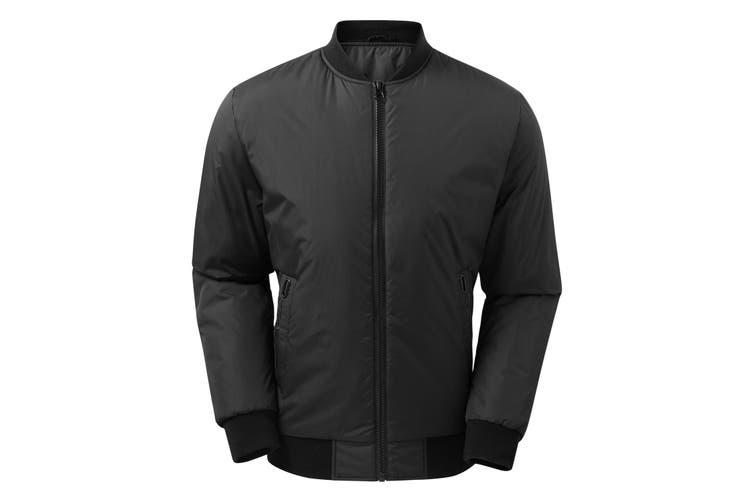 2786 Mens Delta Plain Bomber Jacket (Black) (L)