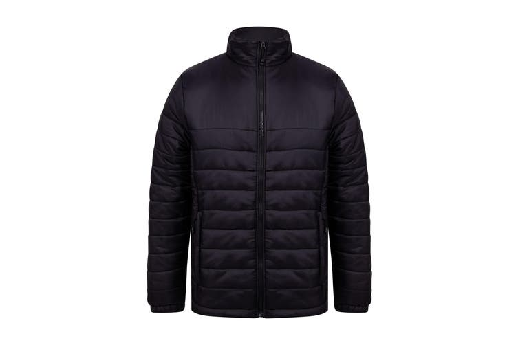 Henbury Adults Unisex Padded Jacket (Black) (3XL)