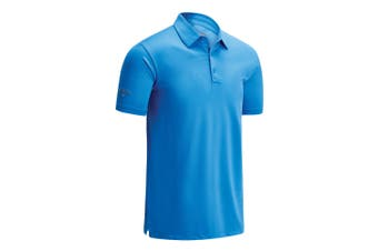 Callaway Mens Swing Tech Solid Colour Polo Shirt (Spring Break Sky) (XS)