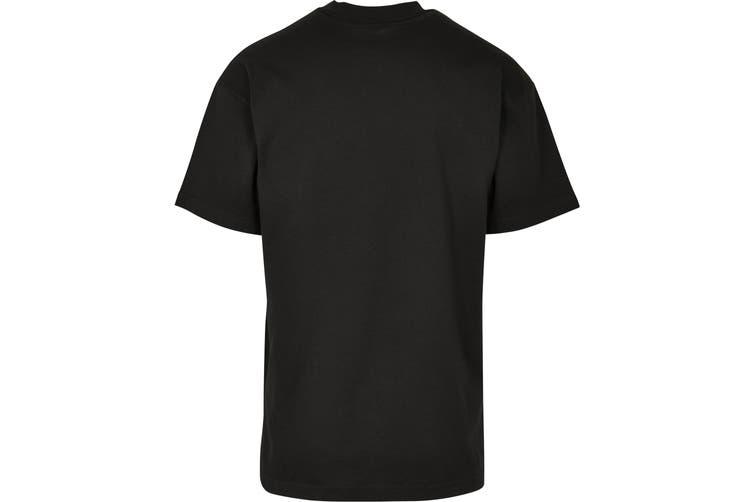 Build Your Brand Unisex Adults Wide Cut Jersey T-Shirt (Black) (M)