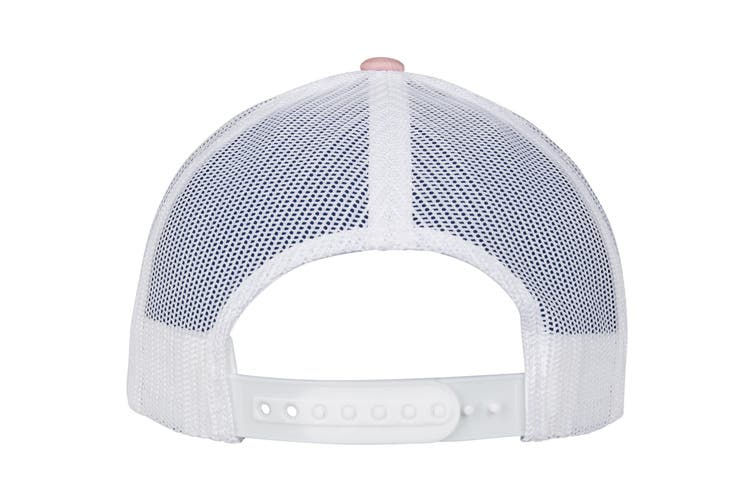 Flexfit by Yupoong Checkerboard Retro Trucker Cap (Light Rose/White) (One Size)
