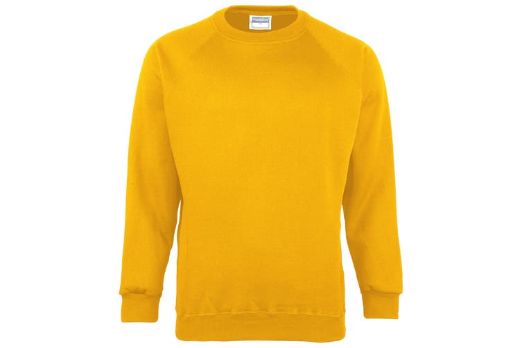 Maddins Kids Unisex Coloursure Crew Neck Sweatshirt / Schoolwear (Sunflower) (28)