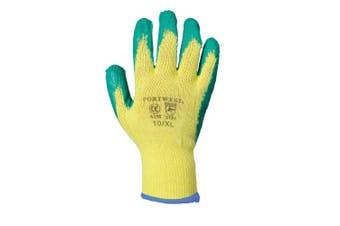 Portwest Fortis Grip Gloves (A150) / Workwear / Safetywear (Yellow/ Green) (XL)