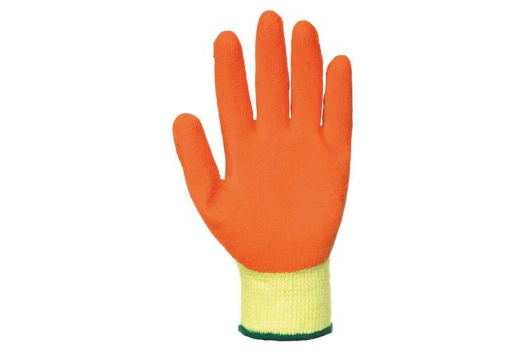 Portwest Fortis Grip Gloves (A150) / Workwear / Safetywear (Yellow/ Orange) (L)