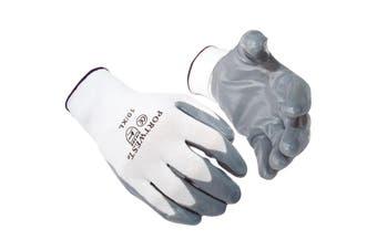 Portwest Flexo Grip Nitrile Gloves (A310) / Safetywear / Workwear (Grey) - UTRW997