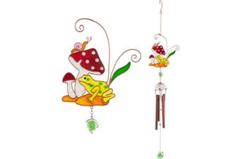 Something Different Toadstool Wind Chime (Multicoloured) (One Size)