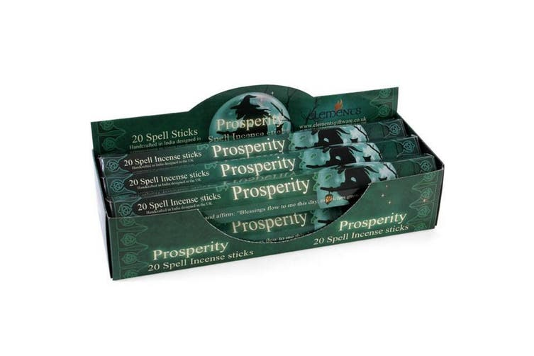 Elements Prosperity Spell Incense Sticks (Box Of 6 Packs) (Green) (One Size)