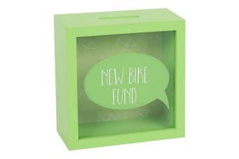 Something Different New Bike Fund Money Box (Green) (One Size)