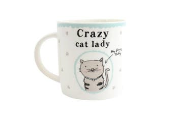 Something Different Crazy Cat Lady Ceramic Boxed Mug (Multicolour) (One Size)