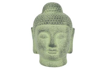 Something Different Green Terracotta Buddha Head Ornament (Green) (One Size)