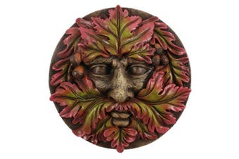 Something Different Green Man Round Face Plaque (Red/Green) (One Size)