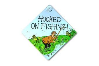 Something Different Hooked On Fishing Window Sign (Multicoloured) (One Size)