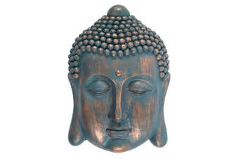 Something Different Buddha Head Plaque (Blue/Copper) (One Size)