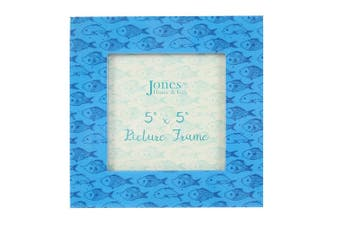 Something Different Fish Printed Frame (Blue) (One Size)