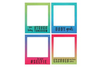 Something Different Motivational Magnetic Picture Frames (Set Of 4) (Multicoloured) (One Size)