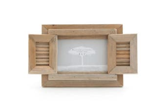 Something Different Driftwood Frame With Shutter (Brown) (One Size)