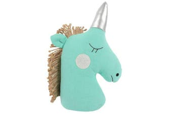 Something Different Unicorn Doorstop (Turquoise) (One Size)