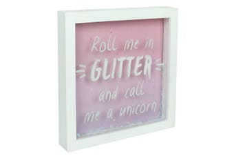 Something Different Roll Me In Glitter Box Frame (Pink) (One Size)