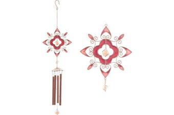Something Different Flower Abstract Wind Chime (Red) (One Size)