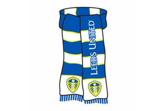 Leeds United FC Official Scarf Shaped Show Your Colours Metal Sign (Blue/White/Yellow) (One Size)