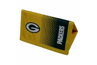 Green Bay Packers Official NFL Crest Design Fade Wallet (Yellow/Black) (One Size)