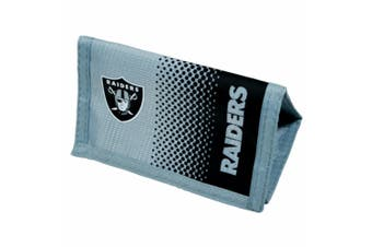 Oakland Raiders Official NFL  Fade Crest Design Wallet (Black/Silver) (One Size)