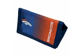 Denver Broncos Official NFL Fade Crest Design Wallet (Navy/Orange) (One Size)