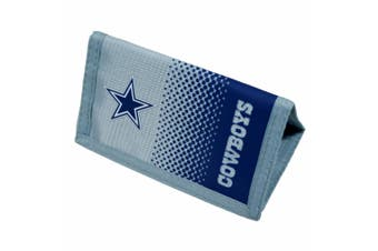 Dallas Cowboys Official NFL Fade Crest Design Wallet (Blue/Silver) (One Size)