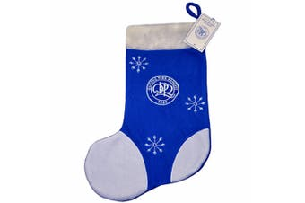 Queens Park Rangers FC Official Christmas Applique Stocking (Blue/White) (One Size)