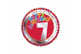 Creative Party Happy 7th Birthday Milestone Balloon (Multicoloured) (18in)