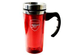 Arsenal FC Official Aluminium Football Travel Mug (Red) (One Size)