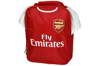 Arsenal FC Official Childrens/Kids Kit Design Lunch Bag (Red) (One Size)