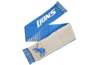 NFL Detroit Lions Official Fade Crest Design Scarf (White/Blue) (One Size)