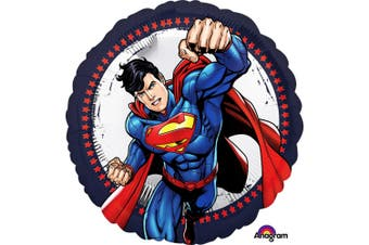 Anagram 18 Inch Superman Circle Foil Balloon (Blue/Red) (18 Inch)