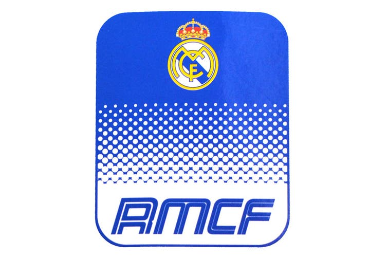 Real Madrid CF Official Football Fade Fleece Blanket (Blue/White) (One Size)