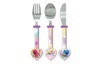 Shimmer And Shine Childrens/Girls Official 3 Piece Cutlery Set (Purple) (One Size)