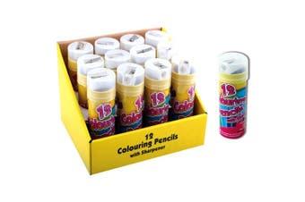 ArtBox Half Size 12 Colouring Pencils And Sharpener (Multicoloured) (One Size)