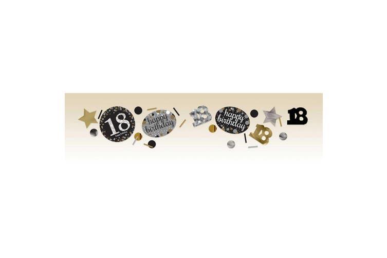 Amscan 1.2oz Gold Sparkling 18th Birthday Confetti (Gold) (34g)